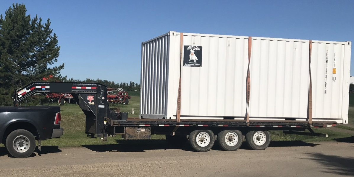 Shipping Container Trailer >> Transportation Big Dog Containers Edmonton Shipping